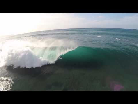 Kelly Slater at Pipeline GoPro Helicopter Angle