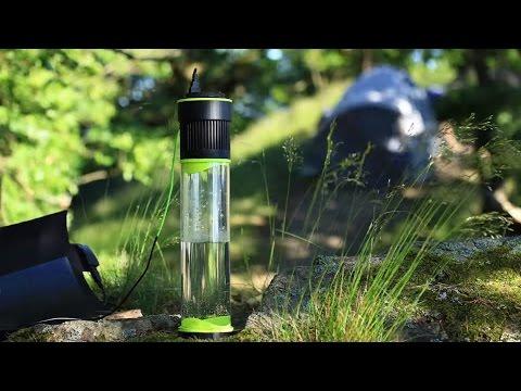 Для любителей экстремальных путешествий: самонаполняющаяся бутылка Fontus