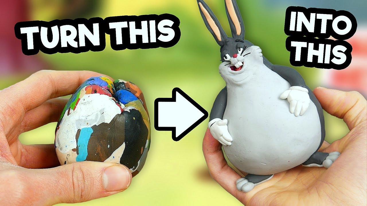 Making Big Chungus In Polymer Clay Youtube