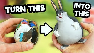Making BIG CHUNGUS in Polymer Clay!