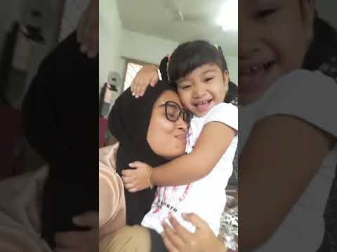 Aisya and moksu...she just so bff with her aunty..