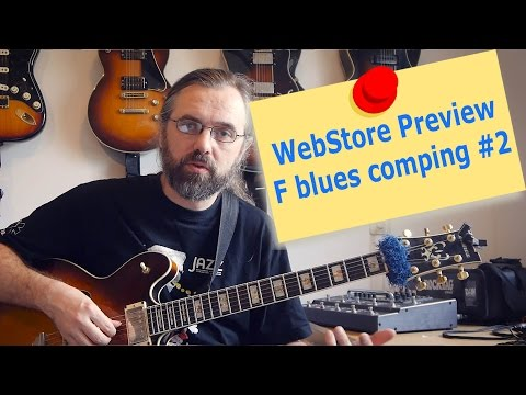 WebStore Preview - F Blues comping #2 - Riffs and Rhythm