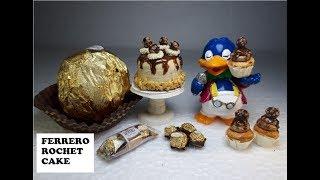 Ferrero Rocher Cake Miniature polymer clay tutorial