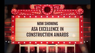 ASA 26th Annual Excellence in Construction Awards