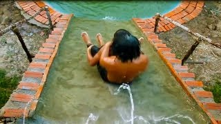 Build Mini Swimming Pool & Water Slide  And Shower Tank