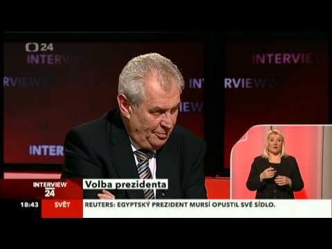 Miloš Zeman v Interview na ČT24 dne 4. 12. 2012