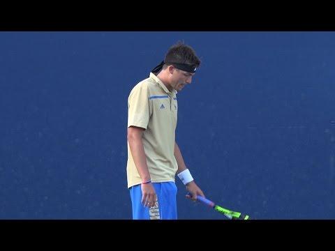 03 10 2016 Redlicki (UCLA) Vs Monroe (BYU) # 1 men's singles 2nd set