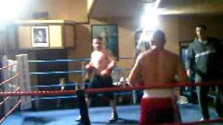 Andy boxing at brads bar trained by Neail Cook
