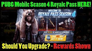 Season 4 Royale Pass IS HERE!! WAY BETTER Than Season 3!! Should YOU Upgrade? | PUBG Mobile