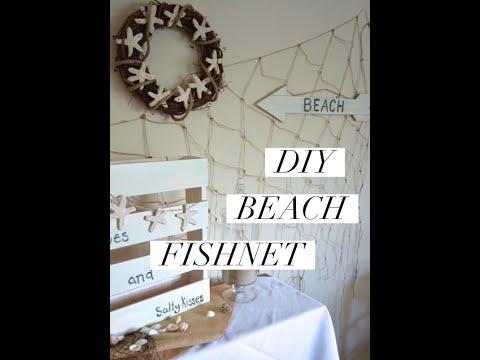 DIY Beach Fishnet Decoration