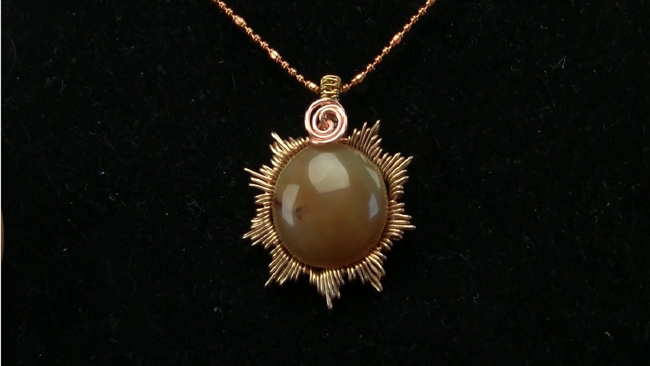 Sunsnowflake grooved cabochon wire wrap pendant tutorial youtube sunsnowflake grooved cabochon wire wrap pendant tutorial aloadofball Image collections