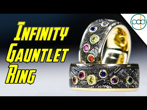 Making a Meteorite and Gold INFINITY GAUNTLET Ring for Thanos
