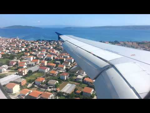 AirSerbia descent and landing in Split