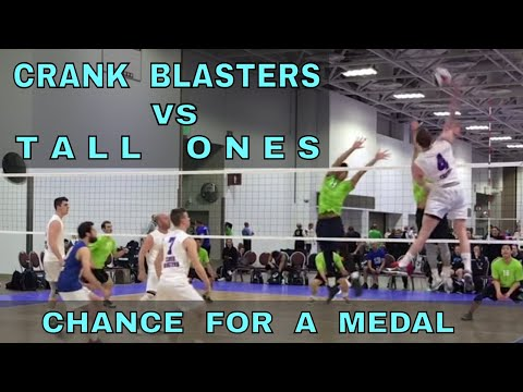 FIGHT FOR A MEDAL - Crank Blasters vs Tall Ones (FULL GAME 10 Volleyball) - USAV 2017 Nationals