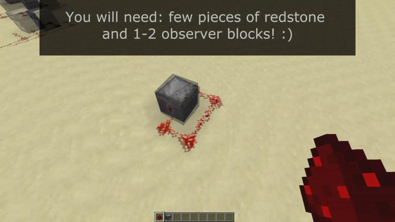 Minecraft 1 11 | Really fast redstone clock using Observer Blocks! + info