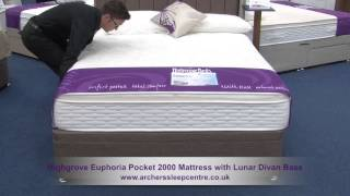 Highgrove Euphoria Pocket 2000 Mattress With Lunar Divan Base