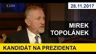 KANDIDÁT NA PREZIDENTA ČR Mirek Topolánek v pořadu Interview. 29.11.2017. Prezidentské volby 2018