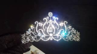 Свадебная корона диадема для невесты 5,3 см 8321