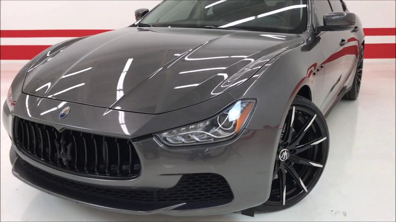 """Maserati Ghibli Q4 >> 2016 Maserati Ghibli S Q4 CUSTOM ($92K MSRP) ONE OF A KIND / LOW MILES / CUSTOM 22"""" WHEELS - YouTube"""
