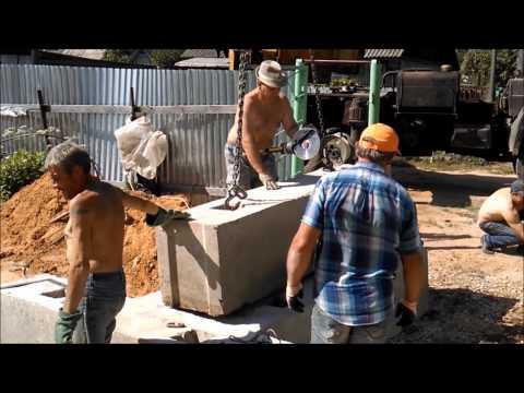 Как ломать фундаментные блоки(ФБС)/How to break the foundation blocks.
