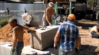 Как ломать фундаментные блоки(ФБС)/How to break the foundation blocks.(, 2015-07-22T11:56:40.000Z)