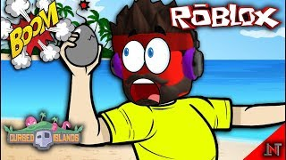ROBLOX Indonesia #124 Cursed Island | Throw a giant egg Bomb
