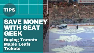 How to buy tickets on Seat Geek - Buying Toronto Maple Leafs Tickets to surprise my Dad thumbnail