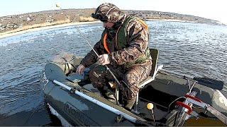 Открытие сезона рыбалки с лодки на кольцо