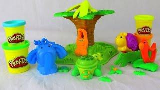 Пластилин Play Doh (Плей до) Джунгли и дикие животные видео для детей