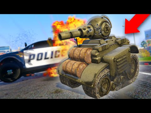 """THE NEW """"INVADE AND PERSUADE"""" TANK IS AMAZING! *RC TANK TROLLING!*   GTA 5 THUG LIFE #291"""