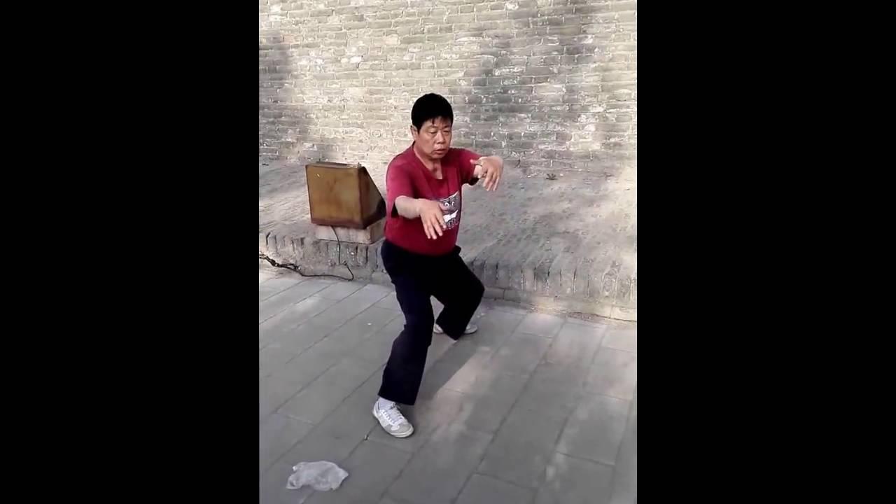 平遙張瑞慶師父演示譚派游身八卦連環掌 - YouTube