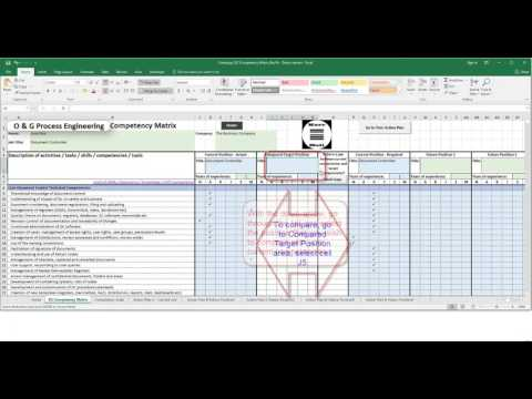 Kerr Noll's Oil & Gas Process Engineering Competency Matrix - Video User Manual