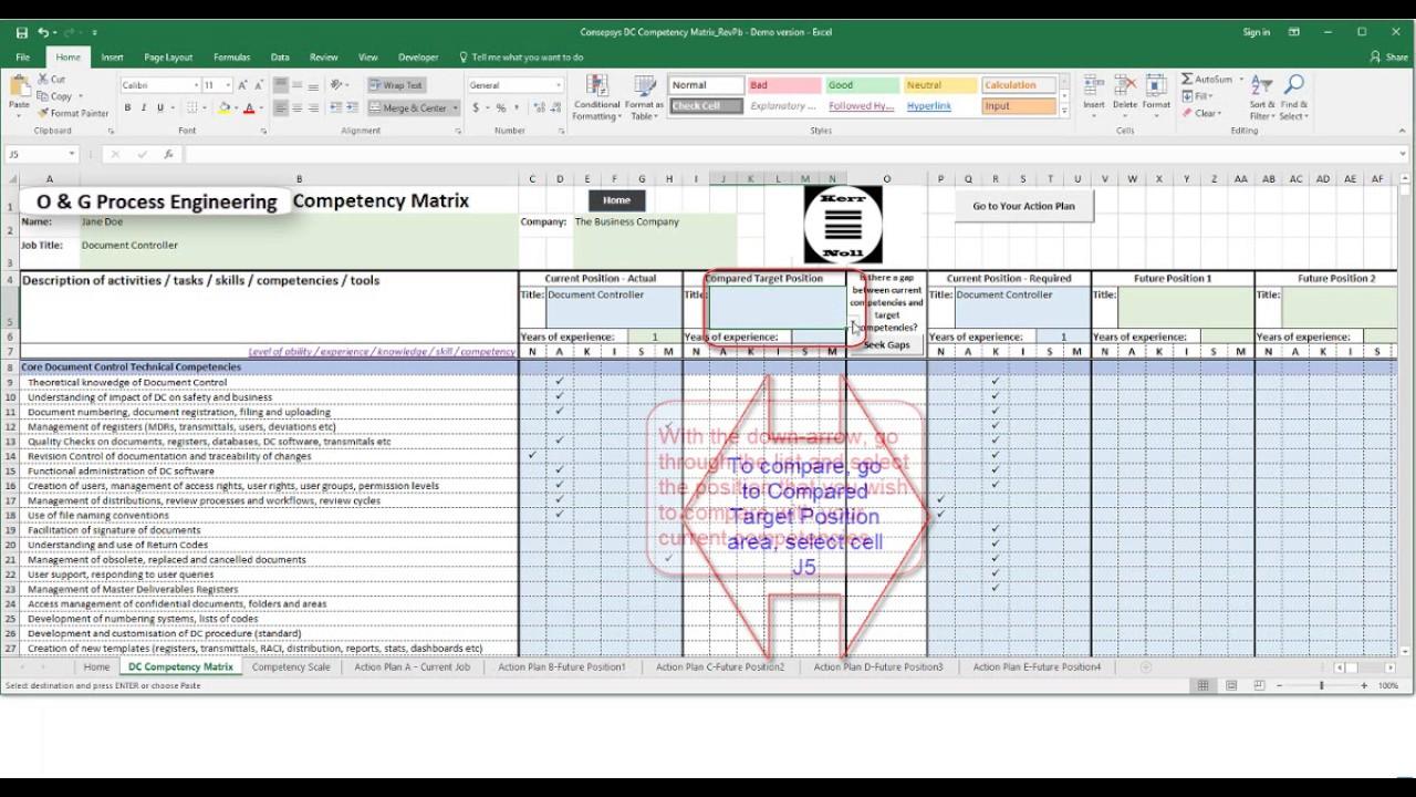 Kerr Noll's Oil & Gas Process Engineering Competency Matrix - Video User  Manual