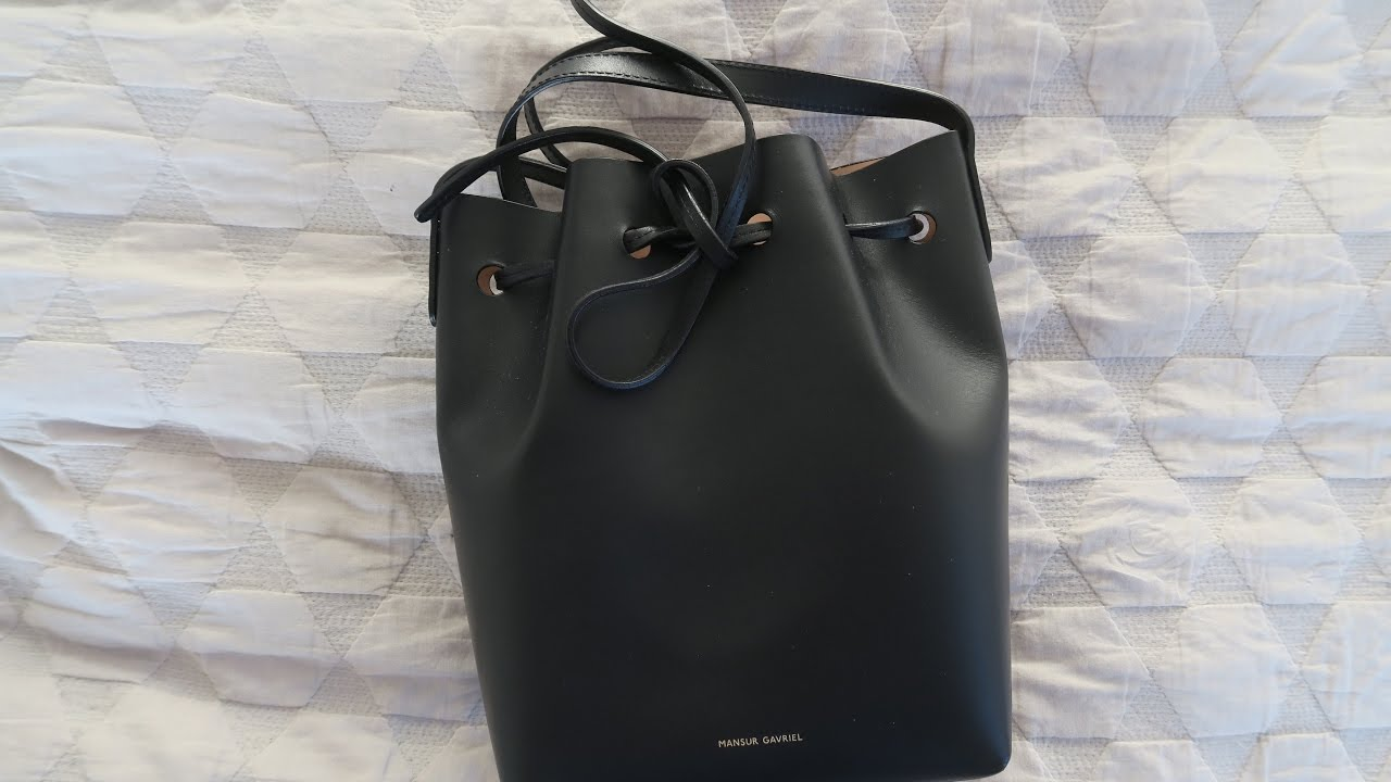 Mansur Gavriel Mini Mini VS Mini Bucket Bag Review - YouTube