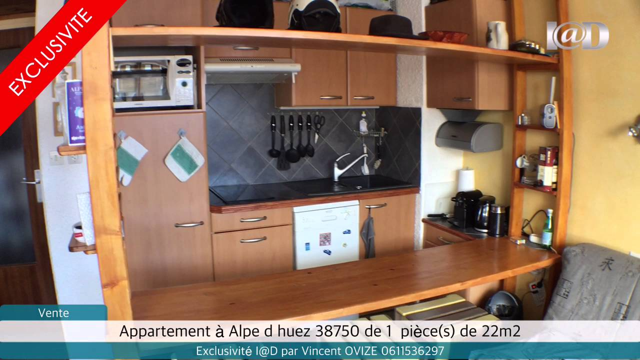 vente appartement alpe d huez 38750 1 pi ces de. Black Bedroom Furniture Sets. Home Design Ideas