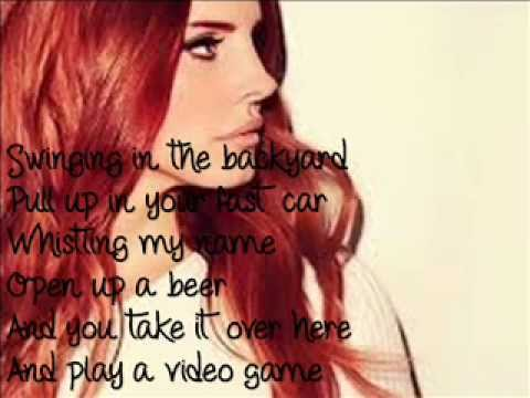 Lana del Rey - videogames (Lyrics) ∞