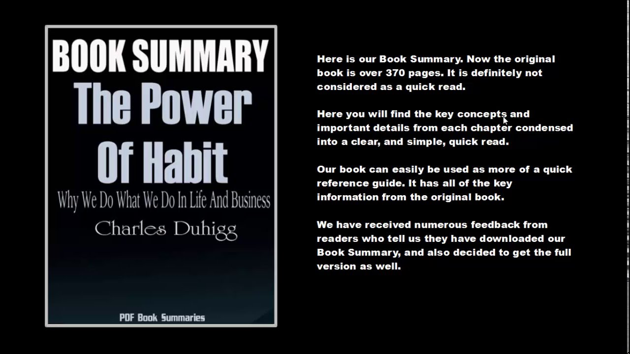 The Power Of Habit PDF Summary
