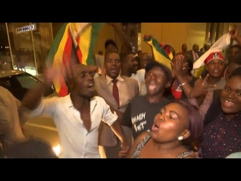 Celebrations erupt in the streets of Harare as Mugabe resigns