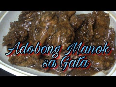 Adobong Manok sa Gata