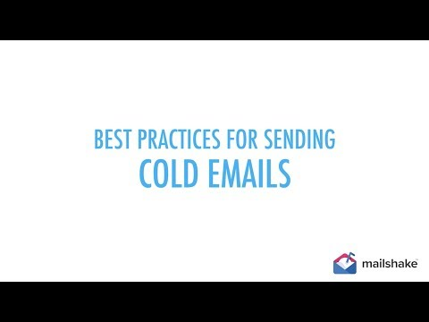 Cold Email Best Practices by Mailshake