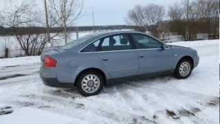 audi a6 2 4 v6 165 hp engine car test drive autobahn video acceleration xenon top gear