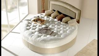 2018 Yatak Odası İçin Yuvarlak Yatak Tasarımları