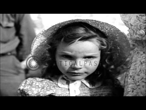 US soldiers guard Mrs. Emmy Goering and her daughter Edda at  Kesselring's Headqu...HD Stock Footage