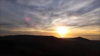 Puesta de sol desde el Monte Iroite, Barbanza (A Coruña) -TIME LAPSE-