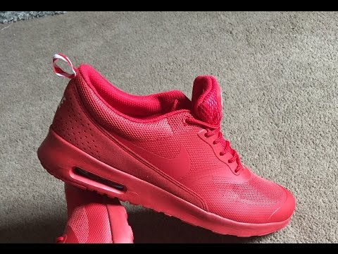 low priced 78469 dbfa4 Aliexpress Nike Air Max Thea (Red) Review