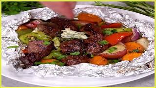 Cooking Recipes 9 : Garlic Butter Herb Steak Foil Packets