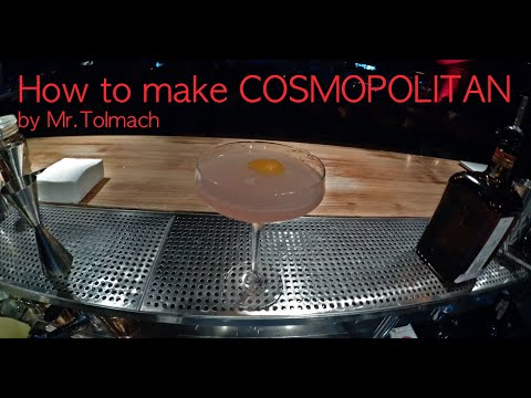 How To Make COSMOPOLITAN By Mr.Tolmach