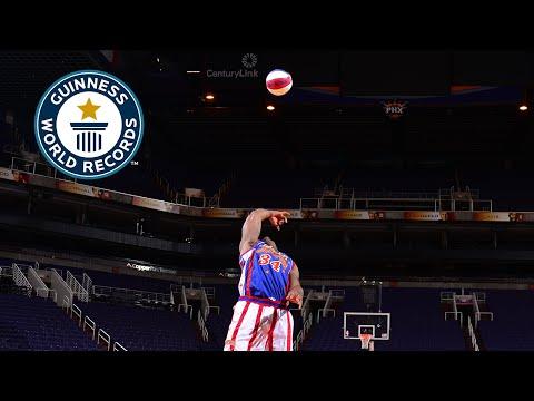 Guinness World Records Day 2014 - Longest backwards basketball s