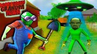 СИМУЛЯТОР ТАНЦУЮЩЕГО ПРИШЕЛЬЦА! Спасаю ИНОПЛАНЕТЯН от ЗЛЫХ ФЕРМЕРОВ в Игре Scary Green Grandpa Alien
