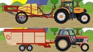 Agricultural machinery story. Cartoon for kids | Maszyny rolnicze | Kreskówki dla dzieci - Traktory